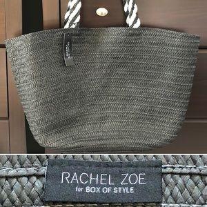 🆕 Woven Straw Tote Black/White Rachel Zoe